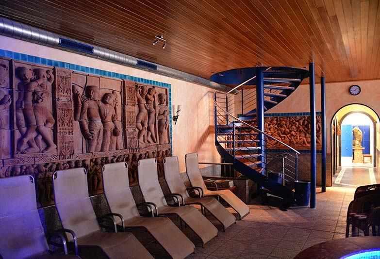 Aquarium-Sauna Karlsruhe | Ruhebereich im Erdgeschoss