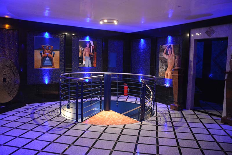 Aquarium-Sauna Karlsruhe | Foyer im Obergeschoss